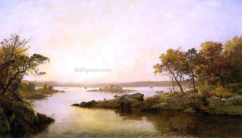 Jasper Francis Cropsey Afternoon at Greenwood Lake - Hand Painted Oil Painting
