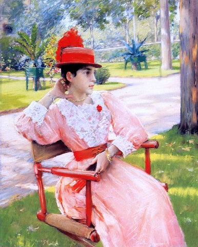William Merritt Chase Afternoon in the Park - Hand Painted Oil Painting