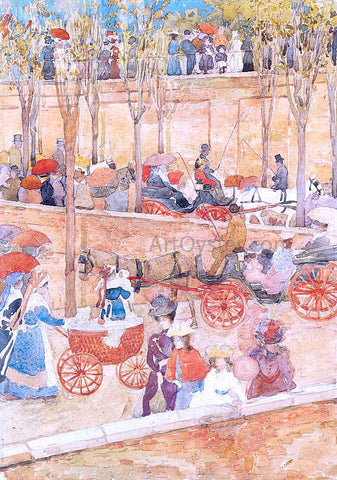 Maurice Prendergast Afternoon, Pincian Hill - Hand Painted Oil Painting