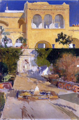Joaquin Sorolla Y Bastida Afternoon sun at the Alcazar at Seville - Hand Painted Oil Painting