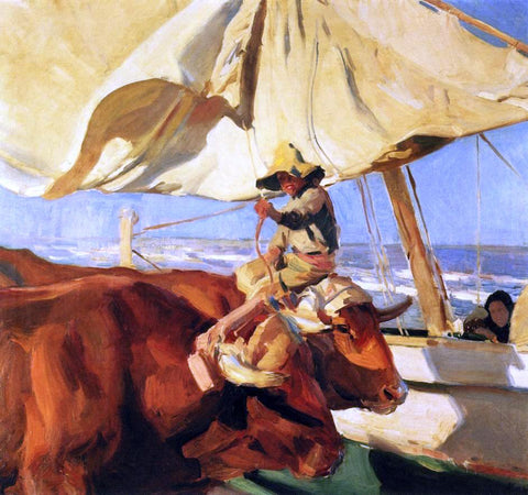 Joaquin Sorolla Y Bastida Afternoon Sun, Playa de Valencia - Hand Painted Oil Painting