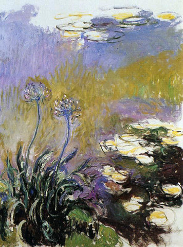 Claude Oscar Monet Agapanthus - Hand Painted Oil Painting