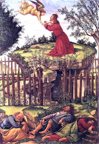 Sandro Botticelli Agony in the Garden - Hand Painted Oil Painting