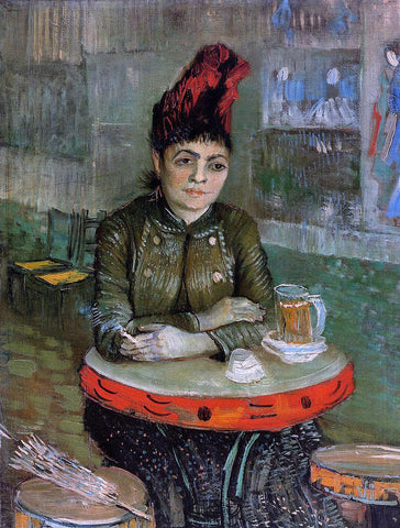 Vincent Van Gogh Agostina Sagatori Sitting in the Cafe du Tambourin - Hand Painted Oil Painting