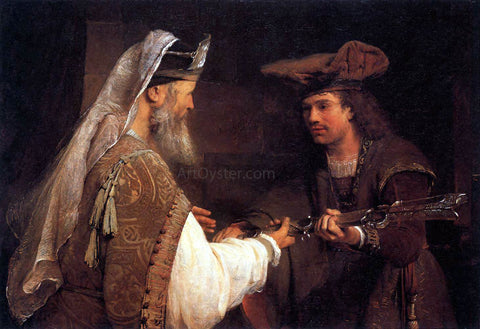 Aert De Gelder Ahimelech Giving the Sword of Goliath to David - Hand Painted Oil Painting