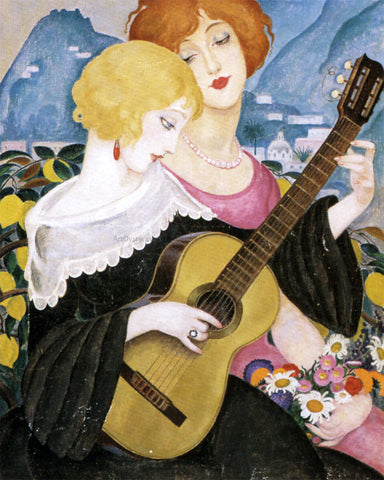 Gerda Wegener Air de Capri - Hand Painted Oil Painting