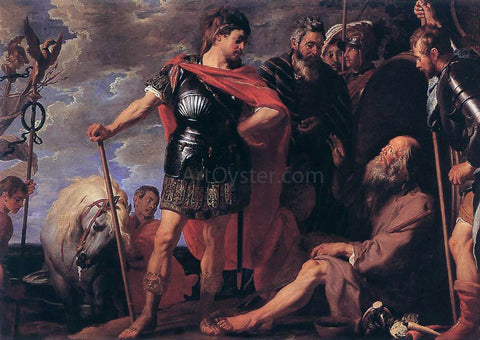 Gaspard De Crayer Alexander and Diogenes - Hand Painted Oil Painting