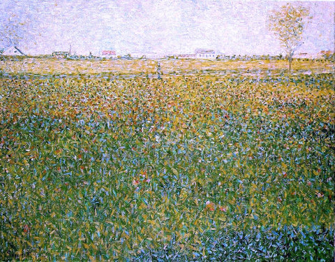 Georges Seurat Alfalfa Fields, Saint-Denis - Hand Painted Oil Painting