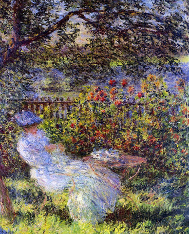 Claude Oscar Monet Alice Hoschede in the Garden - Hand Painted Oil Painting
