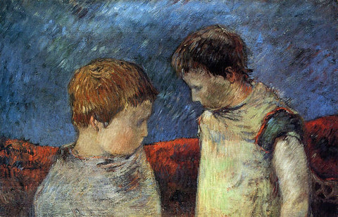Paul Gauguin Aline Gauguin and One of Her Brothers - Hand Painted Oil Painting