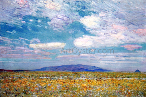 Frederick Childe Hassam Alkali, Rabbit Brush and Grease Wood Squaw Cap, Oregon Trail - Hand Painted Oil Painting