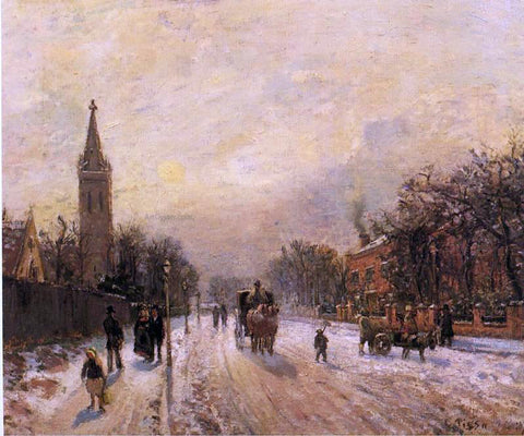 Camille Pissarro All Saints' Church, Upper Norwood - Hand Painted Oil Painting