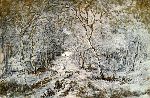 Theodore Rousseau Allee Sous Bois - Hand Painted Oil Painting