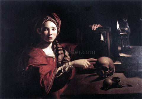 Unknown Painters Masters Allegory of the Vanity of Earthly Things - Hand Painted Oil Painting