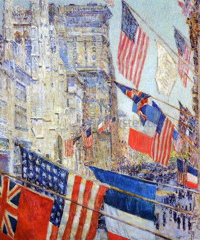 Frederick Childe Hassam Allies Day, May, 1917 - Hand Painted Oil Painting
