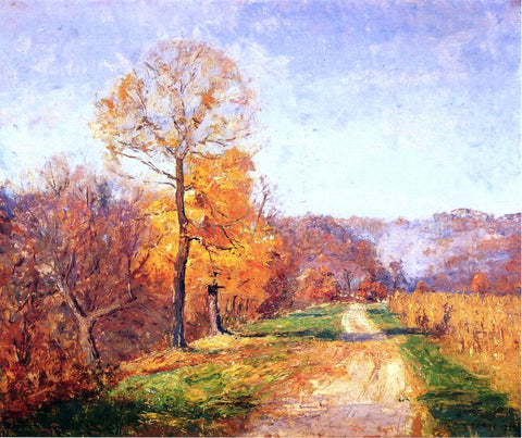 Theodore Clement Steele Along a Country Lane - Hand Painted Oil Painting