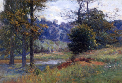 Theodore Clement Steele Along the Creek (also known as Zionsville) - Hand Painted Oil Painting