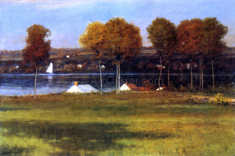 Leonard Ochtman Along the Mianus River - Hand Painted Oil Painting