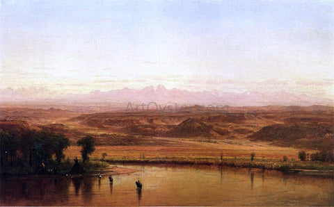 Thomas Worthington Whittredge Along the Platte River, Colorado - Hand Painted Oil Painting
