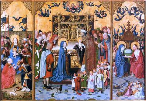 Painters (2) Masters Altarpiece of the Seven Joys of Mary - Hand Painted Oil Painting