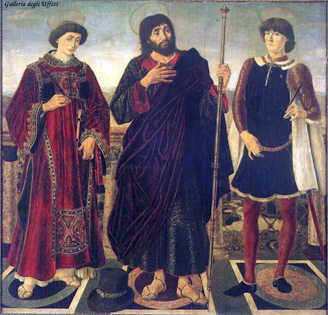 Antonio Pollaiolo Altarpiece of the SS. Vincent, James and Eustace - Hand Painted Oil Painting