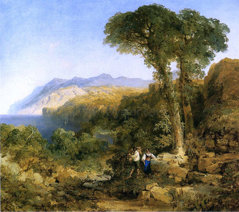 Thomas Moran Amalfi Coast - Hand Painted Oil Painting