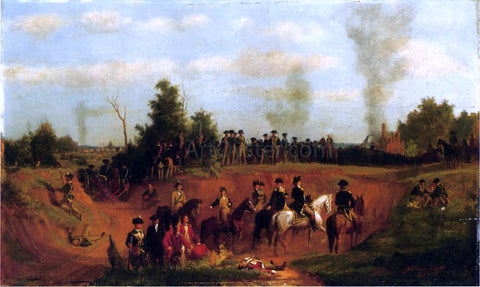 Julian Scott American Battle Scene - Hand Painted Oil Painting