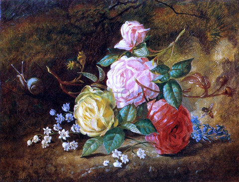 Lilly Martin Spencer American Roses - Hand Painted Oil Painting