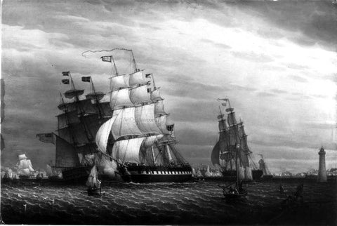 Robert Salmon American Ships in the Mersey - Hand Painted Oil Painting