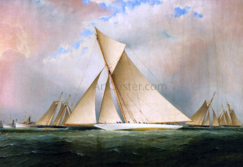 James E Buttersworth America's Cup Yacht VIGILANT, 1893 - Hand Painted Oil Painting