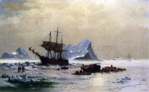 William Bradford Among the Ice Floes - Hand Painted Oil Painting