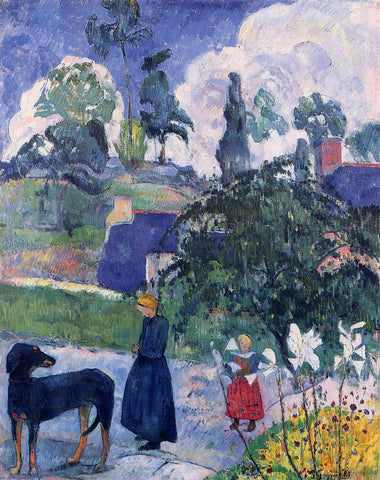 Paul Gauguin Among the Lillies - Hand Painted Oil Painting