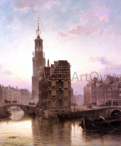 Cornelis Christiaan Dommelshuizen Amsterdam - Hand Painted Oil Painting