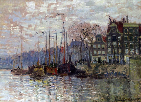 Claude Oscar Monet Amsterdam - Hand Painted Oil Painting