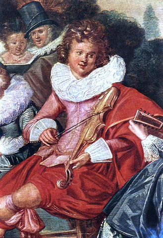Dirck Hals Amusing Party in the Open Air (detail) - Hand Painted Oil Painting