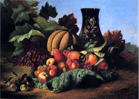 Andrew H. Way An Abundance of Fruit - Hand Painted Oil Painting