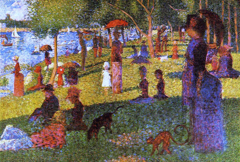 Georges Seurat An Afternoon at La Grande Jatte - Hand Painted Oil Painting