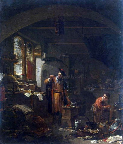 Thomas Wijck An Alchemist - Hand Painted Oil Painting
