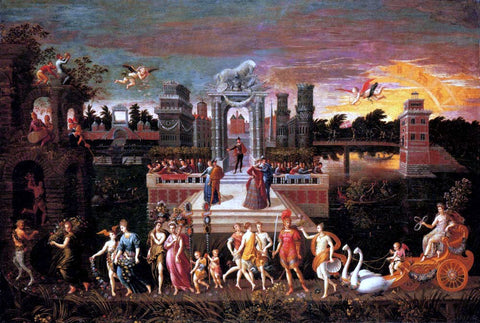 Antoine Caron An Allegory of the Triumph Of Spring - Hand Painted Oil Painting