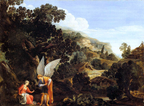 Carlo Saraceni An Angel Appearing to the Wife of Manoah - Hand Painted Oil Painting