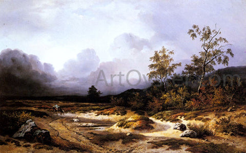Willem Roelofs An Approaching Storm - Hand Painted Oil Painting