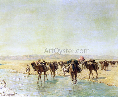 Paul Baptiste Lazerges An Arab Caravan - Hand Painted Oil Painting