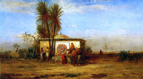 Robert Swain Gifford An Arab Fountain (also known as Near Cairo) - Hand Painted Oil Painting