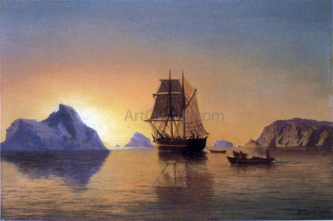 William Bradford An Arctic Scene - Hand Painted Oil Painting