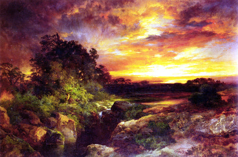 Thomas Moran An Arizona Sunset Near the Grand Canyon - Hand Painted Oil Painting