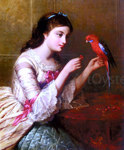 Edward John Cobbett An Attentive Friend - Hand Painted Oil Painting