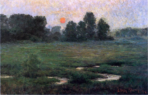 John Ottis Adams An August Sunset - Prarie Dell - Hand Painted Oil Painting