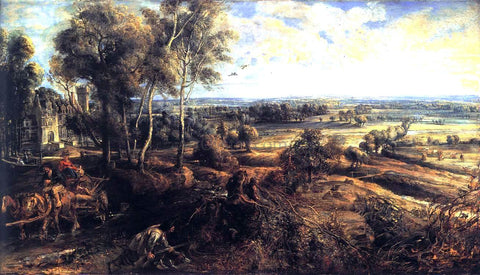 Peter Paul Rubens An Autumn Landscape with a View of Het Steen - Hand Painted Oil Painting