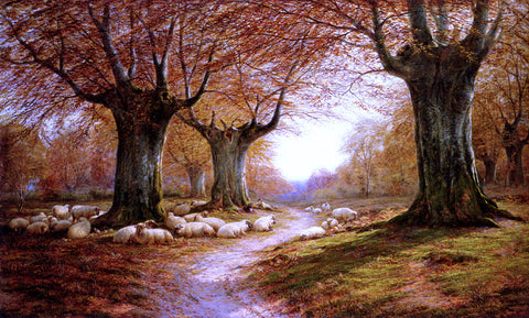 William Luker An Autumnal Landscape - Hand Painted Oil Painting