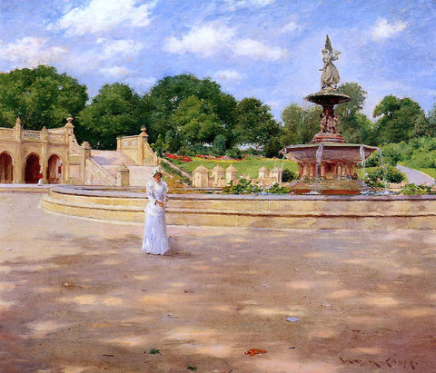 William Merritt Chase An Early Stroll in the Park - Hand Painted Oil Painting